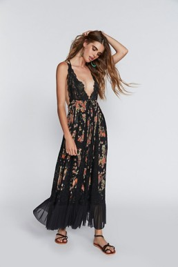 FREE PEOPLE I'll Take U Farrer Black Dress