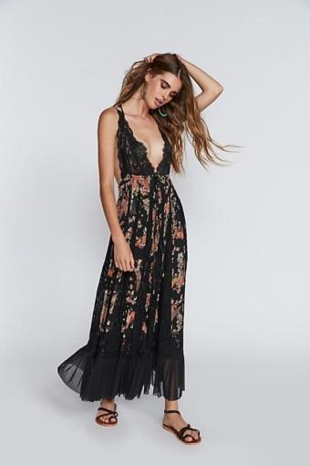 FREE PEOPLE I'll Take U Farrer Black Dress