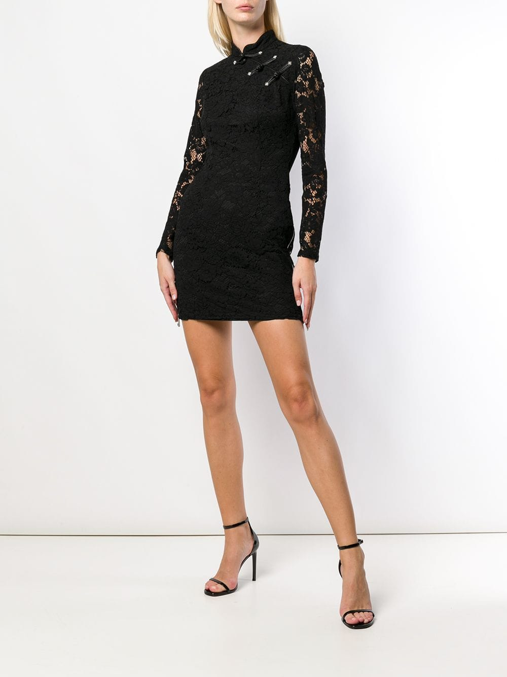 JOHN RICHMOND Fitted Lace Black Dress