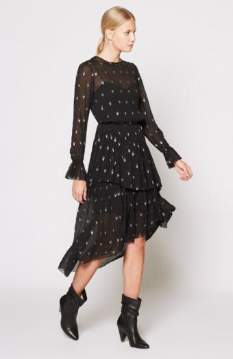 JOIE Maylene Silk Black Dress