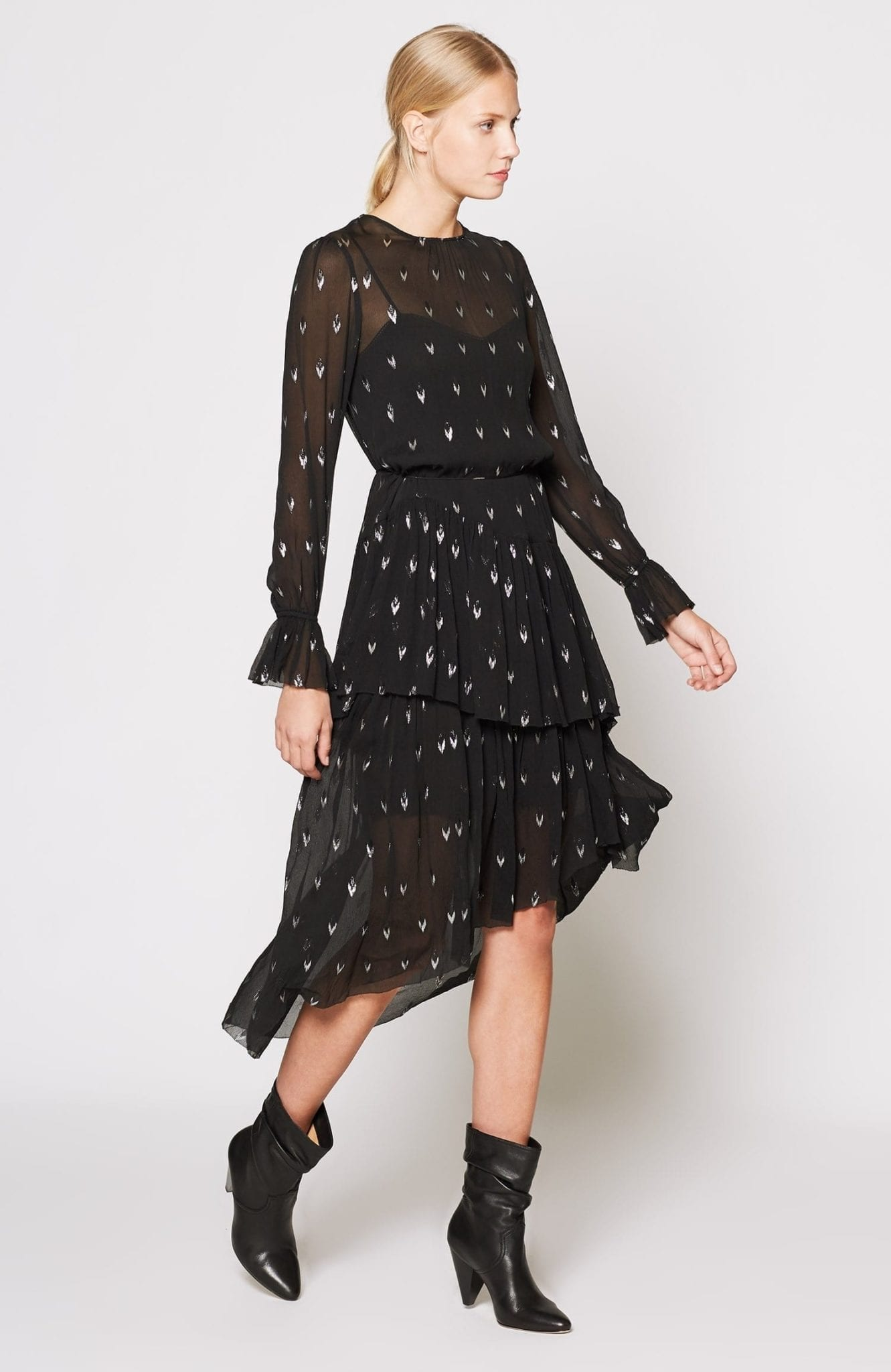 JOIE Maylene Silk Black Dress