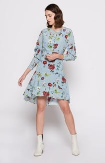 JOIE Tamarice Blue / Floral Printed Dress