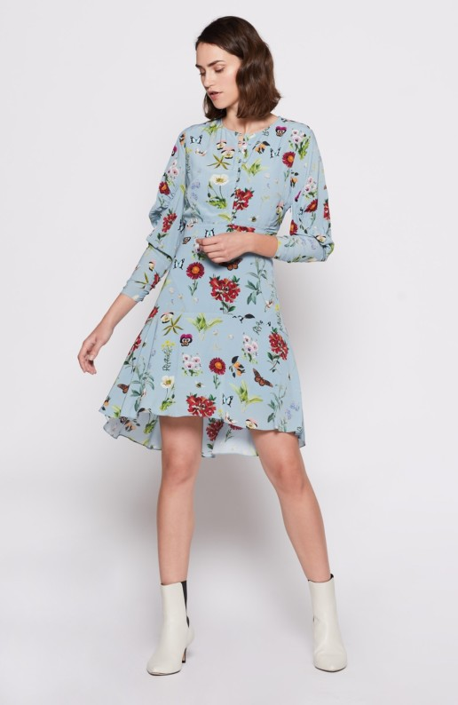 JOIE Tamarice Blue / Floral Printed Dress