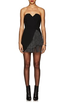 KALMANOVICH Cady Strapless Mini Black Dress