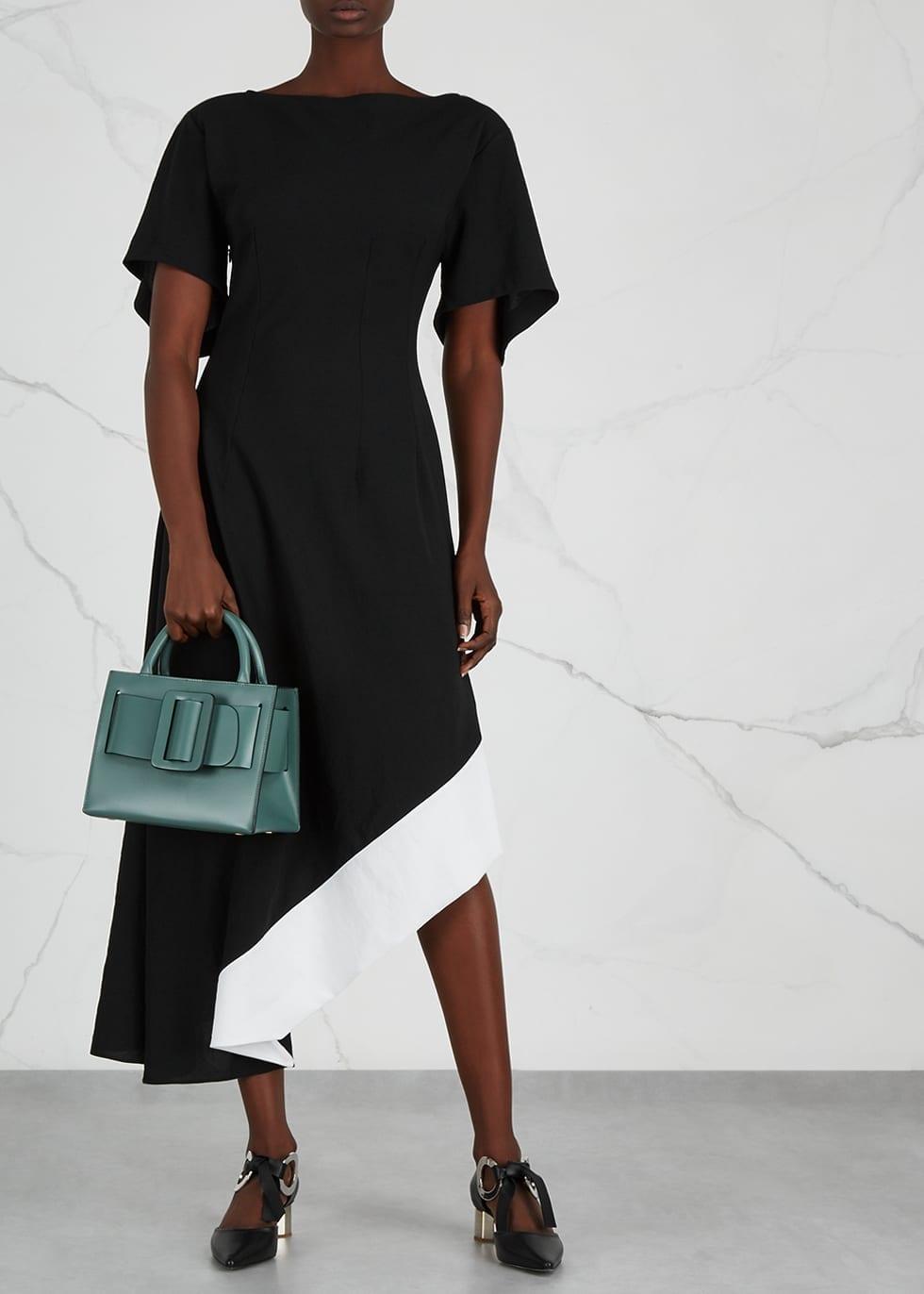 LOEWE Asymmetric Midi Black Dress
