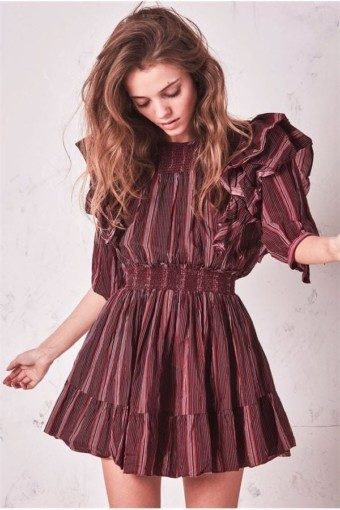 LOVESHACKFANCY Cassi Purple Dress