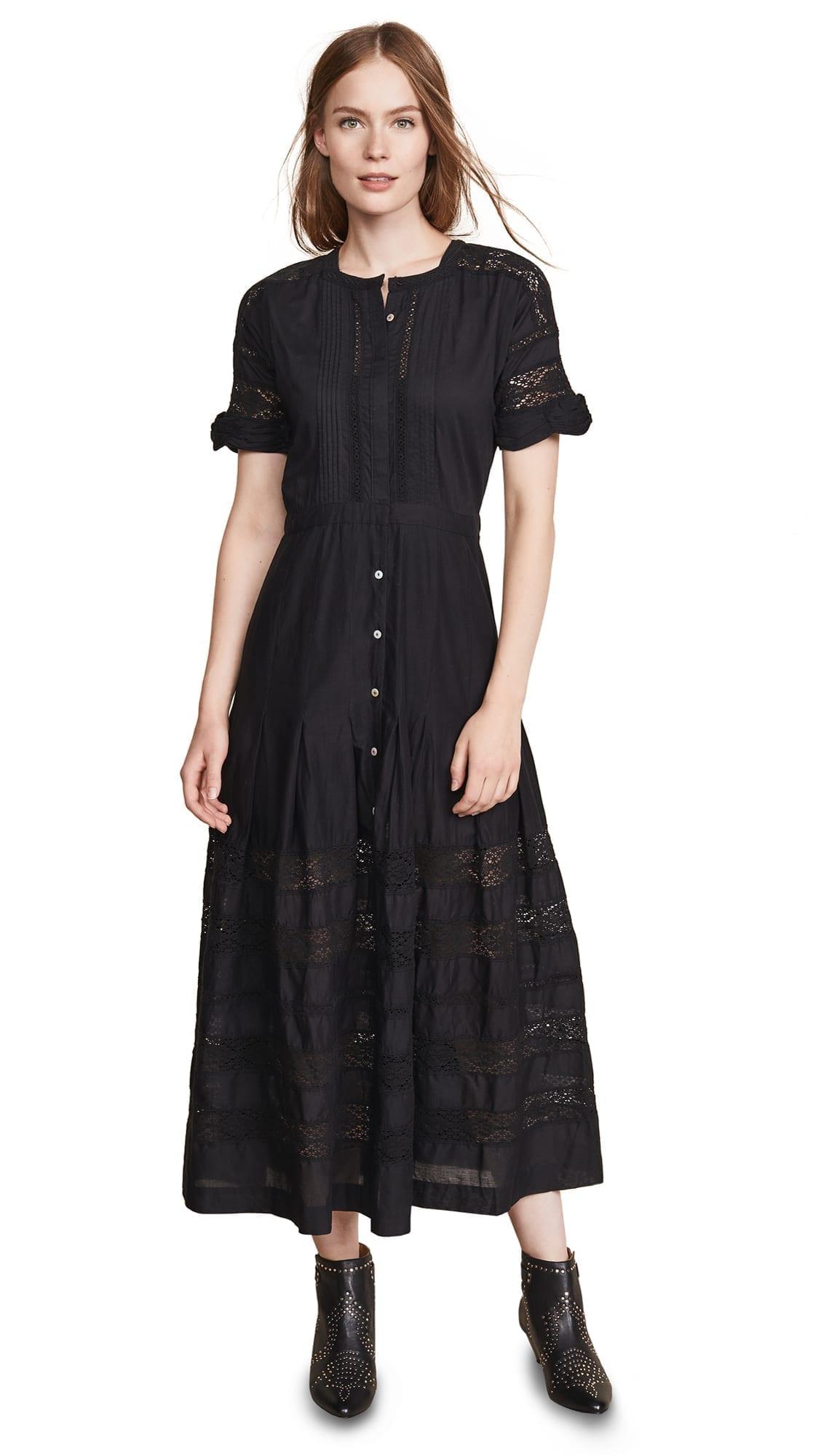 LOVESHACKFANCY Edie Black Dress
