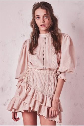 LOVESHACKFANCY Lorelei Pink Dress