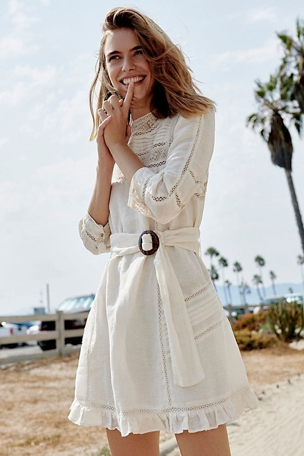 LUISA Mini White Dress