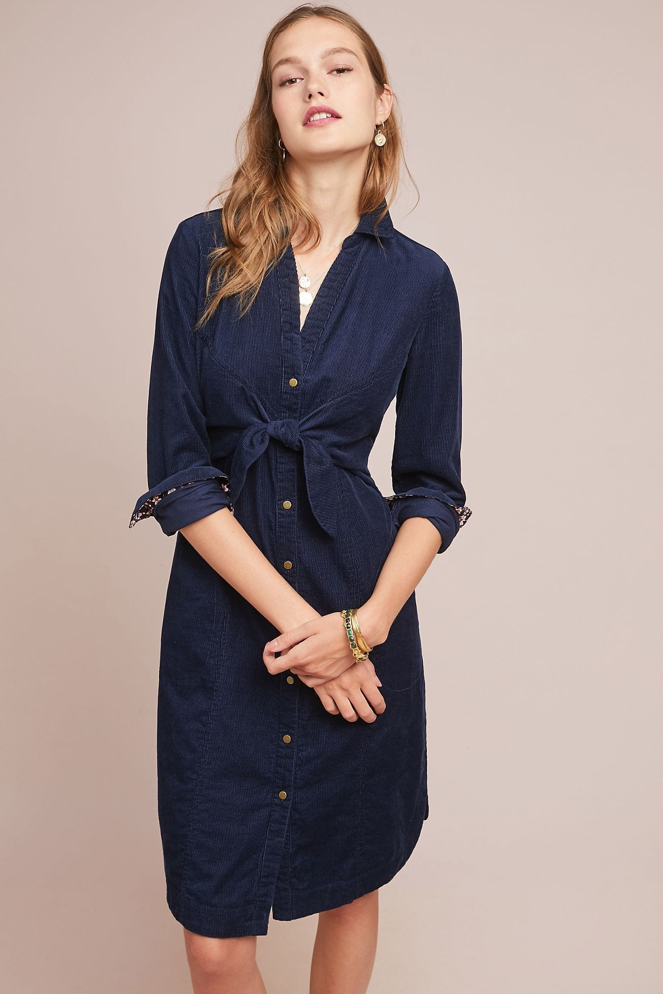 MAEVE Winchester Shirt Navy Dress