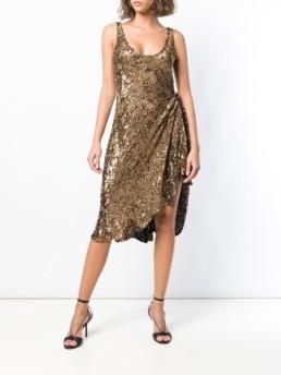 MARIA LUCIA HOHAN Dominika Bronze Dress