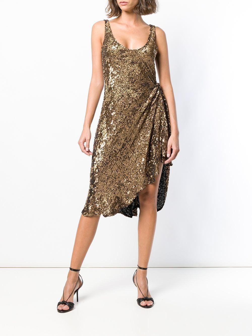 30315705030d MARIA LUCIA HOHAN Dominika Bronze Dress - We Select Dresses