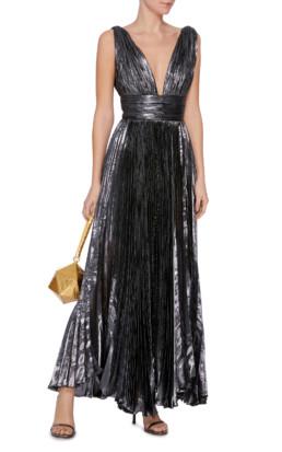 MARIA LUCIA HOHAN Sada Chiffon Grey Dress