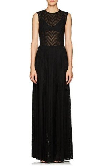 MARTIN_GRANT_Pleated_Fil_Coupé_Black_Gown