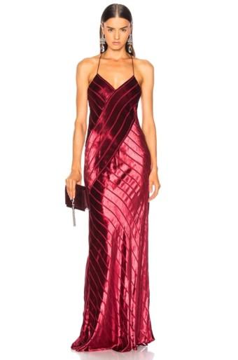 MICHELLE MASON Bias Red Gown
