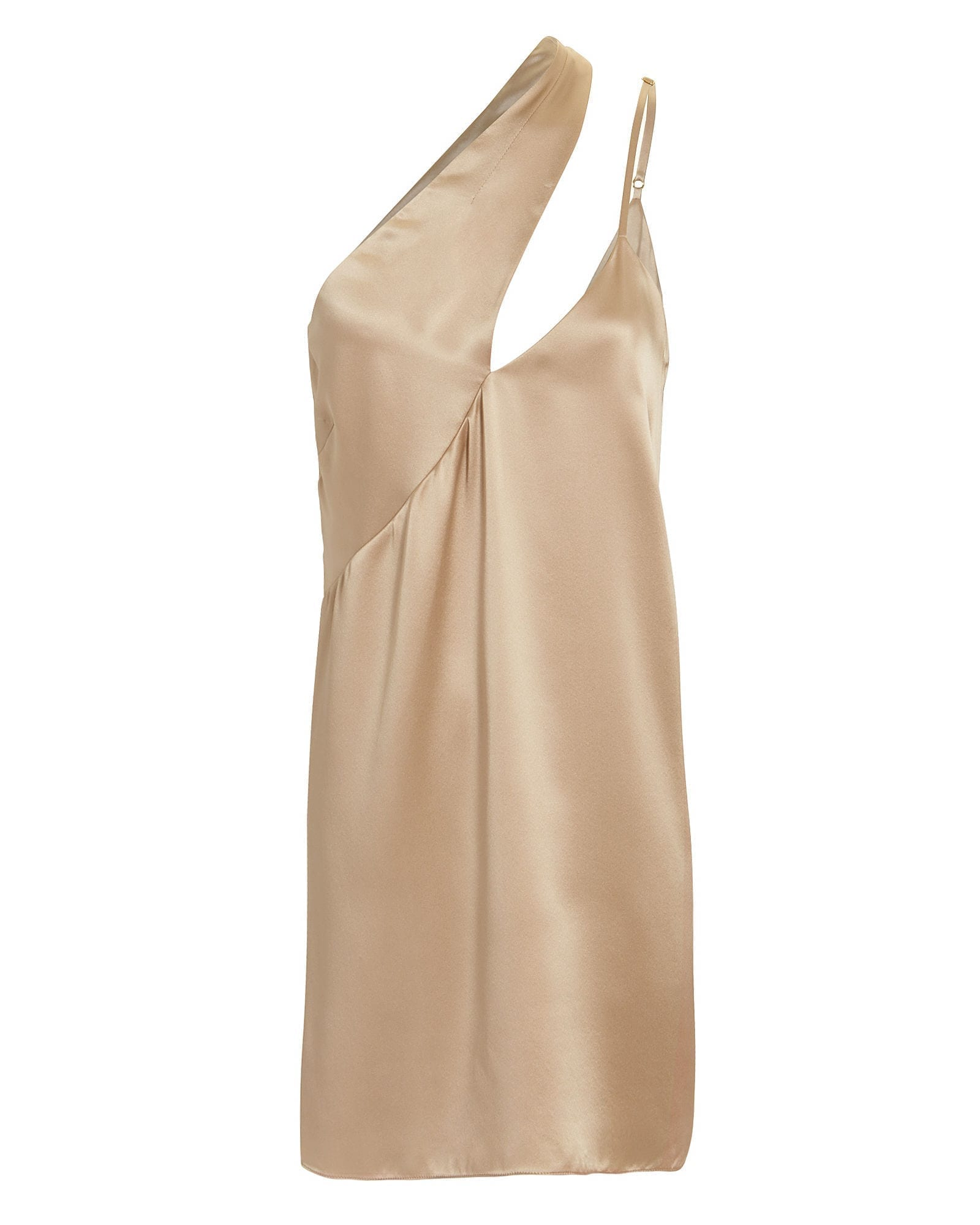 07e274687680 MICHELLE MASON One Shoulder Mini Gold Dress - We Select Dresses
