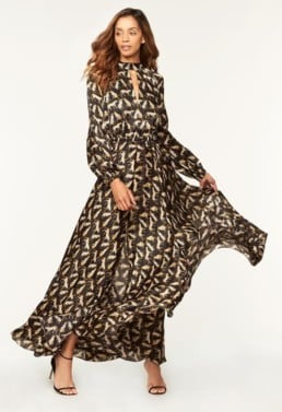 MILLY Cheetah Print Emmie Black Dress