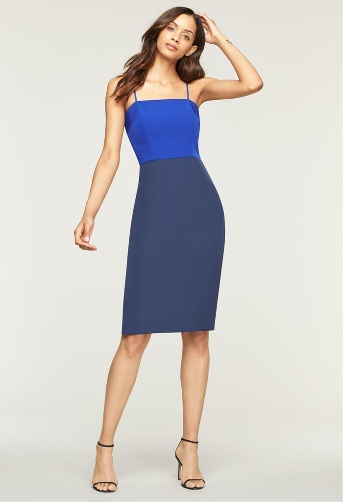 MILLY Italian Cady Pencil Navy Dress
