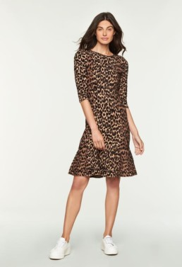 MILLY Textured Cheetah Mermaid Multi Dress