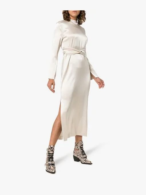 NANUSHKA-Sadie-High-Neck-Belted-White-Dress