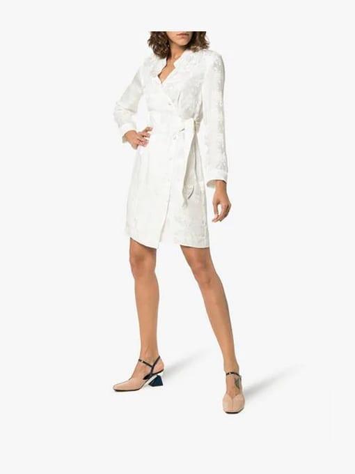 NANUSHKA-Suren-V-Neck-Silk-Wrap-White-Dress