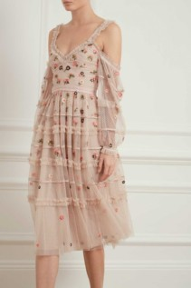 NEEDLE AND THREAD Celeste Rose Dress