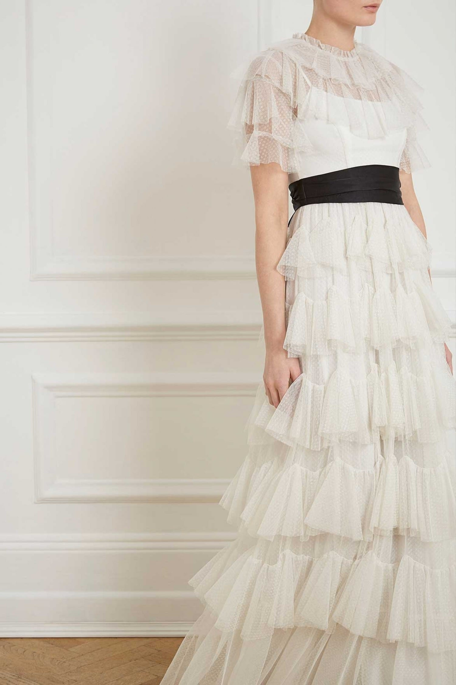 Needle And Thread Scallop Tulle White Gown We Select Dresses