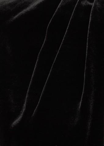 RAQUEL DINIZ Alma Silk Velvet Black Gown_5