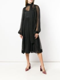 ROCHAS Loose Flared Black Dress