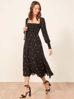 ROWAN Midi Black Dress