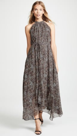 SALONI Irina True Leopard Dress