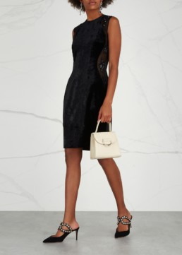 STELLA MCCARTNEY Miracle Embellished Velvet Black Dress