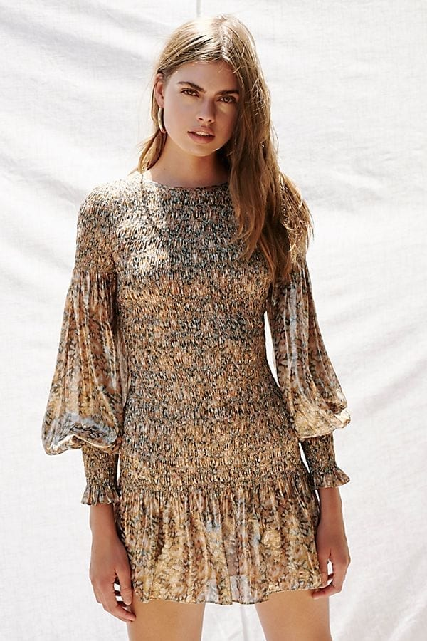 FREE PEOPLE Scarlett Mini Brown Dress