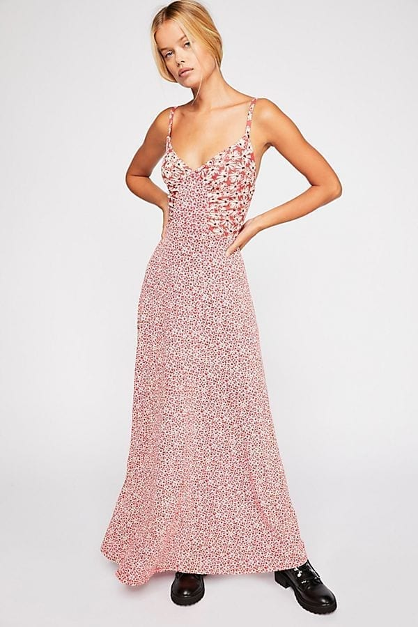 2b3bb6e9976 FREE PEOPLE Song of Summer Maxi Red Dress - We Select Dresses