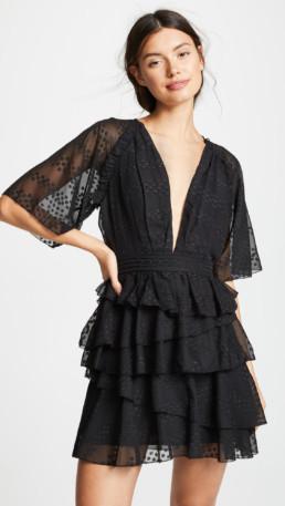 THE JETSET DIARIES Twiggy Mini Black Dress