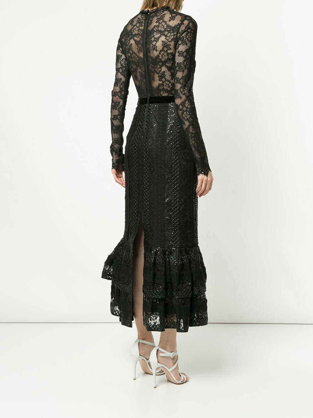 THREE FLOOR Lace Fitted Black Dress