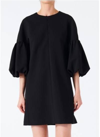 8c04e1034cfe TIBI Structured Crepe Balloon Sleeve Black Dress - We Select Dresses