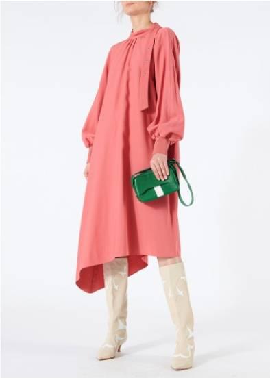 9126cf6e4 TIBI Viscose Twill Buckle Asymmetrical Pink Dress - We Select Dresses