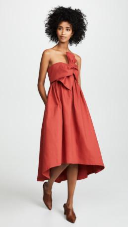 ULLA JOHNSON Rochelle Ochre Dress