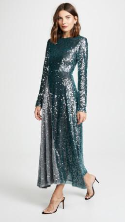 WALK OF SHAME Sequins Grey / Green Dress