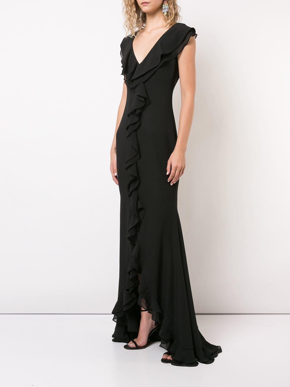 ZAC ZAC POSEN Aiden Black Gown - We Select Dresses