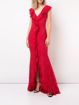 ZAC ZAC POSEN Aiden Red Gown