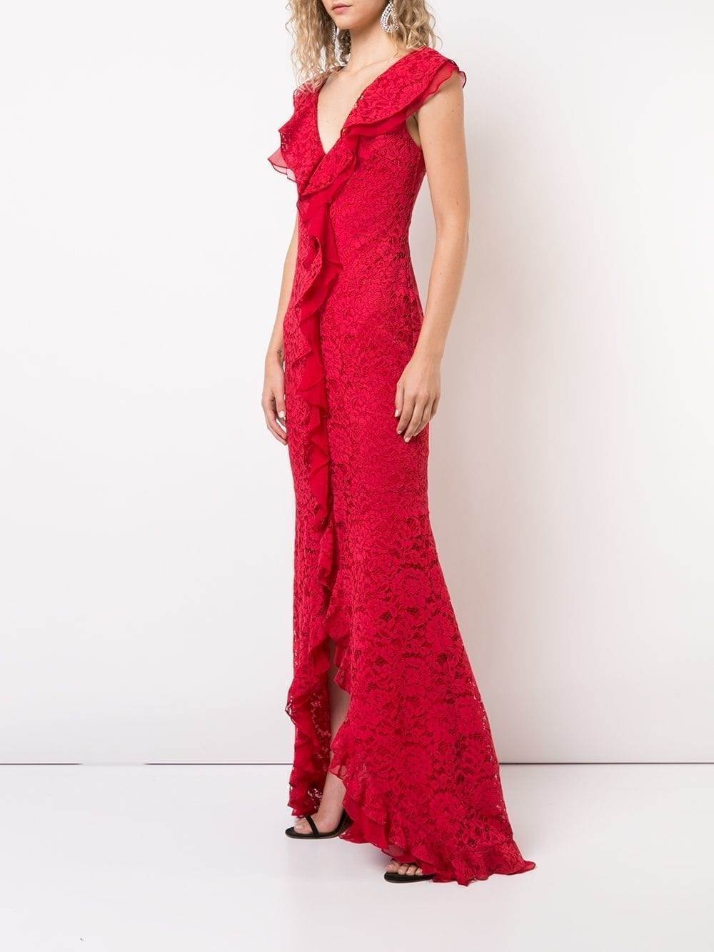 ZAC ZAC POSEN Aiden Red Gown - We Select Dresses