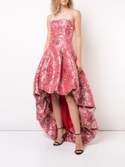 ZAC ZAC POSEN Celine Red / Pink Gown