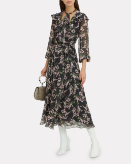 ZIMMERMANN Fleeting Flounce Black Dress