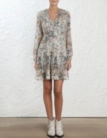 ZIMMERMANN Fleeting Folds Floral Dress