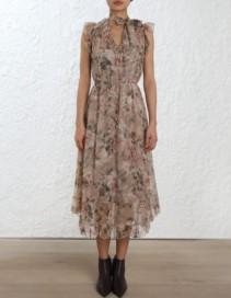 ZIMMERMANN Fleeting Frill Floral Dress