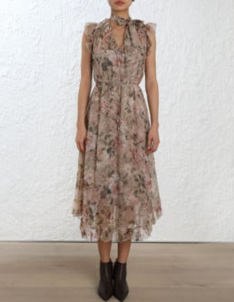 ZIMMERMANN Fleeting Frill Floral Dress