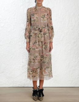 ZIMMERMANN Fleeting Pintuck Floral Dress
