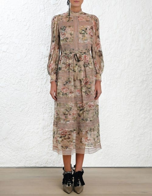 48adaf5aeebd ZIMMERMANN Fleeting Pintuck Floral Dress - We Select Dresses